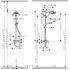 Crometta 160 1jet Showerpipe смеситель д/душа 27266400