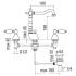 Nobili Antica смеситель для раковины на 3 отверстия с донным клапаном H=190 мм Арт AT 31012/1 BR