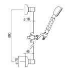 Nobili SOFI Душевая стойка с ручной лейкой, 0.6м Арт AD 140/48 CR