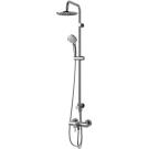 Идеал Дуо система душевая для настенных смесителей (лейка 3-функциональная d100 мм, верхний душ d200 мм с душевой трубой, шланг 1750 мм) Ideal Standart A5691AA