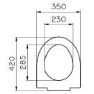 Vitra Form 500 сиденье для унитаза, стандарт Арт 53-003-001