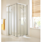 Hueppe Alpha дверь раздвижная 3-секц прозрачная 90x90x190