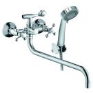 Смеситель для ванны с длинным изливом и аксессуарами KONNER CLASSIC CLS2600