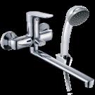 Смеситель для ванны с длинным изливом и аксессуарами KONNER NORD NRD1600