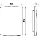 Декоративная панель для скрытия монтажных механизмов писсуара Sanit 16.076.00