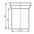 Муфта сливная для WC прямая Sanit 58.202.01