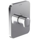 E75411-CP переключатель HYBRID встраиваемый на 3 выхода универсальный дизайн лицевой панели (хром) Jacob Delafon