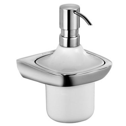 Kludi 5397605 дозатор AMBIENTA для жидкого мыла (хром/бел)