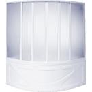 Шторка для ванны Риола (пластик Вотер) 6 створок BAS 135х135