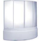 Шторка для ванны Алегра (пластик Вотер) BAS 150х90