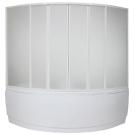 Шторка для ванны Мега (пластик Вотер) BAS 160х160