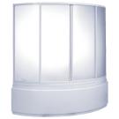 Шторка для ванны Сагра (стекло Грэйп) BAS 160х100
