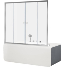 NAA6142 Alfa 5 шторка для ванны 1700x1400 стекло прозрачное 6 мм профиль хром (196046)