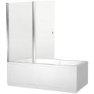 NF6222-pivot Alfa 4 шторка для ванны 2 стекла универсальная 1220x1400 стекло прозрачное 5 мм профиль хр (196049)