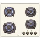 Газовая панель в стиле кантри Teka ER 60 4G AI AL CI WHITE CREAM