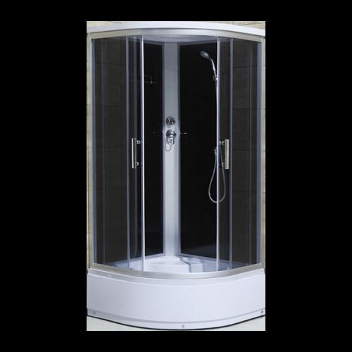 Душевая кабина CS-1000A HI 100x100x215 высокая чёрная Loranto
