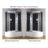 Душевая кабина CS-007-2L (99801) 135x85x220 Loranto