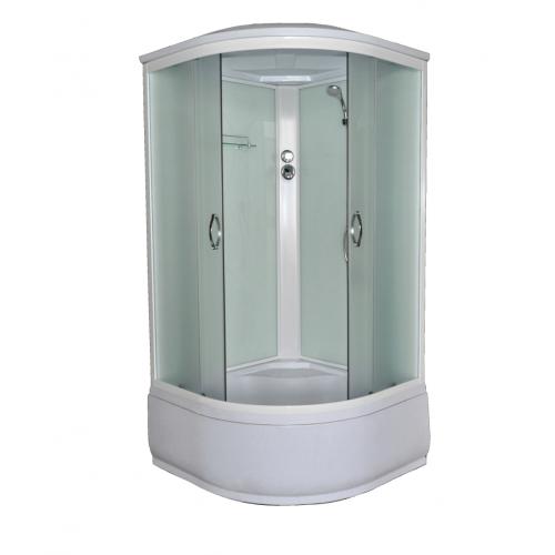 Душевая кабина CS-800 HI G, 80*80*215 высокая серая, стекло 4мм, поддон 43 см