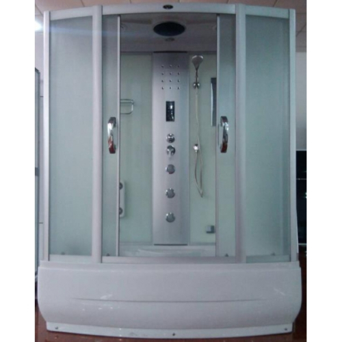 Душевая кабина CS-8765М 150*85*215 высокая матовая, стекло 5мм, поддон 45 см