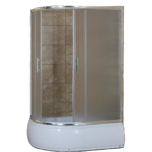 Душевое ограждение CS-1285 SK R 100*80*195 высокая матовая, стекло 4мм, поддон 43 см