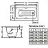 Donni 170x75x41 Ванна чугунная (модель с отверстиями для ручек) Goldman