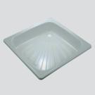 Поддон стальной квадратный 90x90 (лучи) Loranto