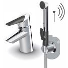 2705F Optima Смеситель для умывальника с донным клапаном и гигиеническим душем и smart кнопкой Oras