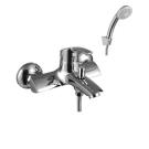 Lemark Плюс Страйк Смеситель для ванны с коротким изливом с аксессуарами картридж 35 хром Чехия LM1102C