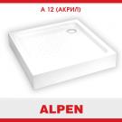 A12 Набор Поддон 900x900x160 акриловый ALPEN и Средство для очистки акриловых ванн