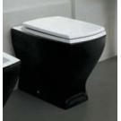 ARTCERAM JAZZ унитаз белый (чёрный) с сидением (чёрное) с микролифтом