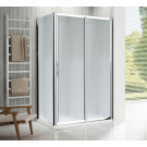 NOVELLINI Душевая дверь LUNES 2P 114-120 профиль хром. стекло прозр.