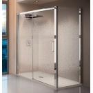 NOVELLINI Душевая дверь KUADRA 2P Novellini 114-120 200 профиль Chrome стекло-Clear левое