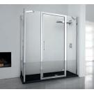 NOVELLINI Душевая дверь KUADRA G 2F IN LINE Novellini 144-150 200 профиль Chrome стекло Clear