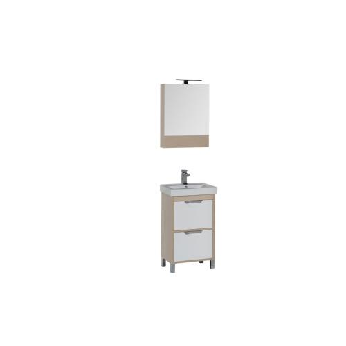Набор мебели для ванной Aquanet Гретта 50 светлый дуб