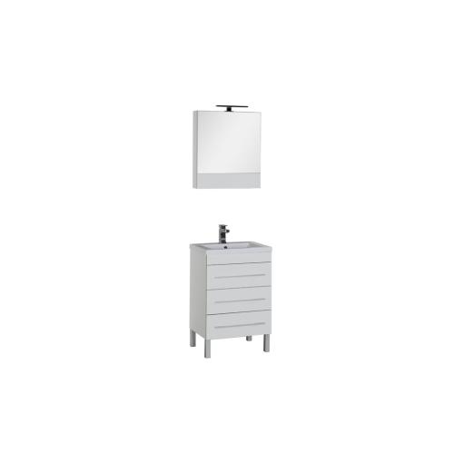 Набор мебели для ванной Aquanet Верона 58 белый (напольный 3 ящика)