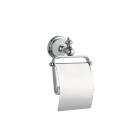 Держатель для туалетной бумаги с крышкой VOGUE Хром и керамика Boheme 10131