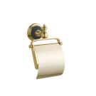 Держатель для туалетной бумаги с крышкой PALAZZO Золото и керамика Boheme 10151