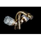 Смеситель для биде CRYSTAL Золото двуручковый Boheme 296-CRST