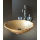 Раковина-чаша золотая стекляная Boheme 805