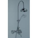 Bugnatese Смеситель OXFORD душ комплект (Смеситель стойка переключ верх душ шланг лейка держ) бронза