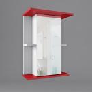 Зеркало для ванной WaterWorld Дуга В 550 1 дверь Зеркало 2 полки