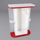 Зеркало для ванной WaterWorld Дуга В 550 1 дверь Зеркало 2 полки R