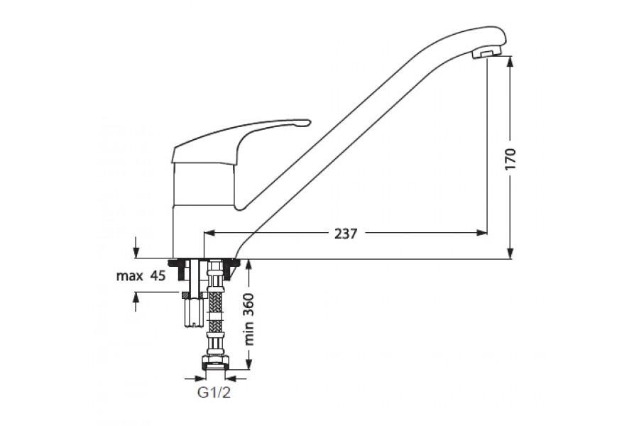 Видима стрим смеситель для умывальника поворотный излив, vidima ba090aa