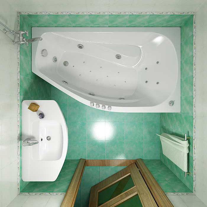 Дизайн для стандартной ванной комнаты