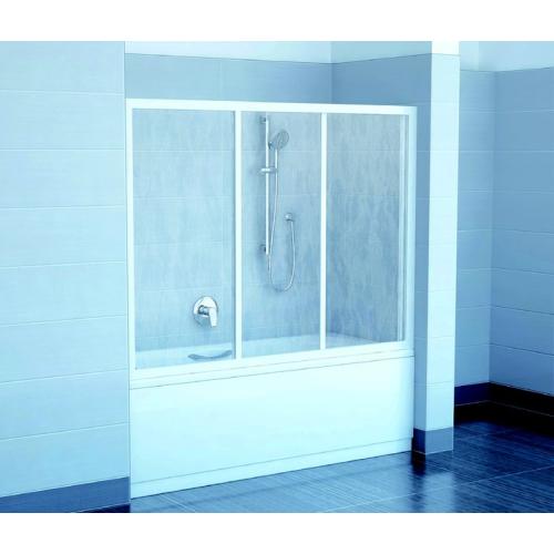 Шторка для ванн AVDP3-180 белая раин