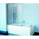 Шторка для ванн VS3 100 белая транспарент