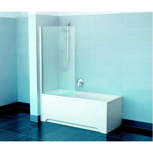 Шторка для ванн PVS1-80 сатин транспарент