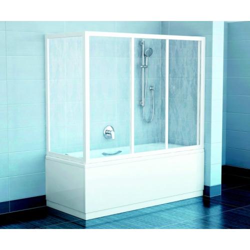 Шторка для ванной APSV-75 белая + Грапе Ravak
