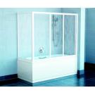 Шторка для ванной APSV-70 белая + Транспарент Ravak