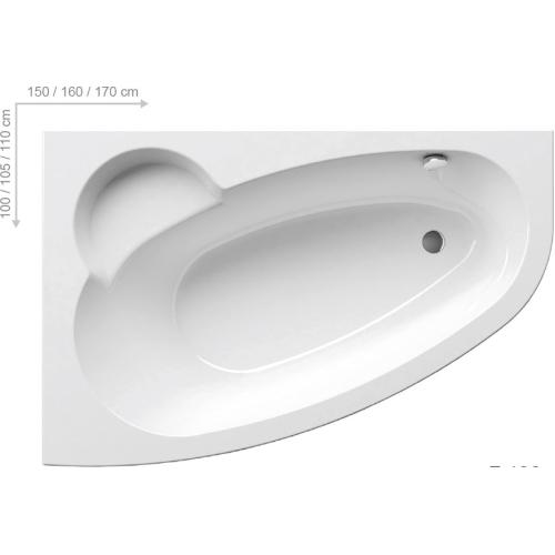 Ravak Ванна ASYMMETRIC 160х105 L